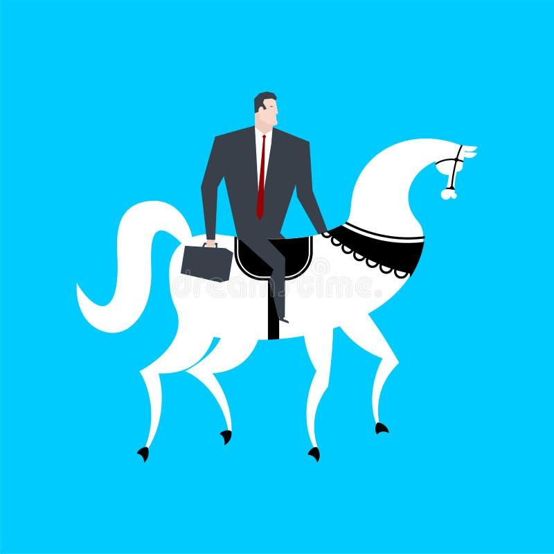 Бизнесмен верхом Босс всадник также вектор иллюстрации притяжки corel бесплатная иллюстрация