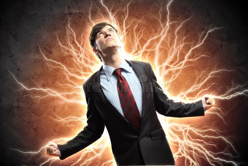 Бизнесмен в гневе стоковое фото rf