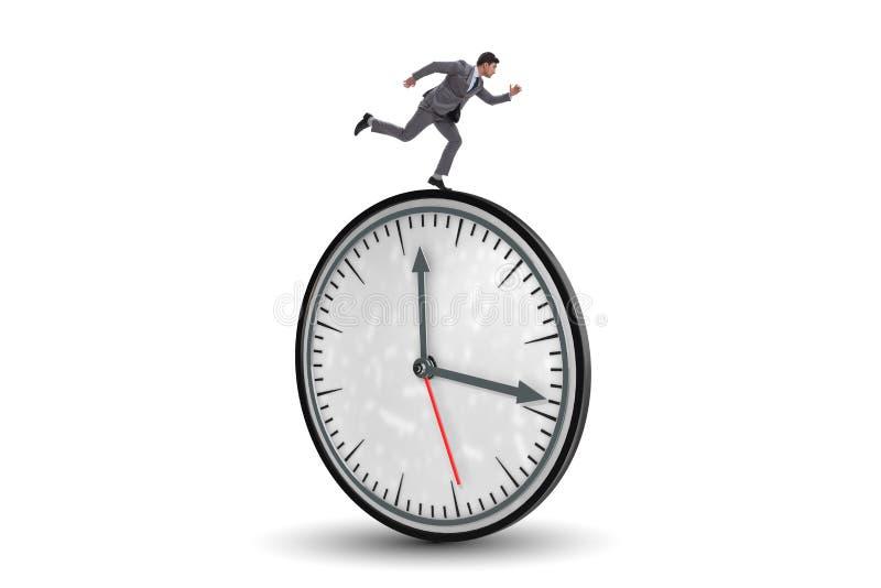 Бизнесмен в концепции контроля времени стоковое изображение