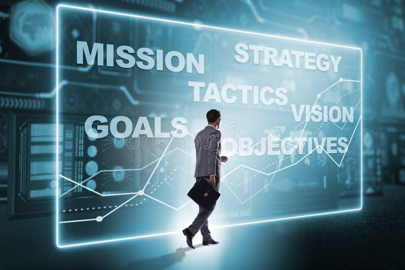 Бизнесмен в концепции стратегического планирования стоковые изображения rf