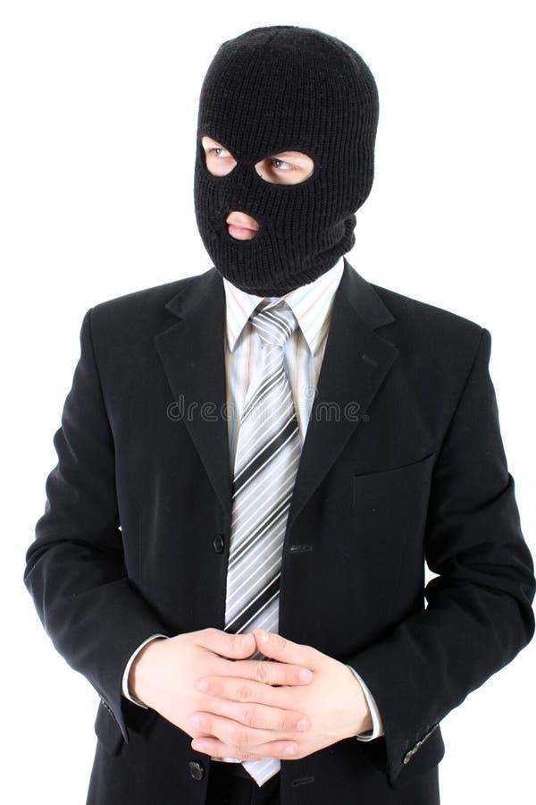 Бизнесмен в маске стоковая фотография rf