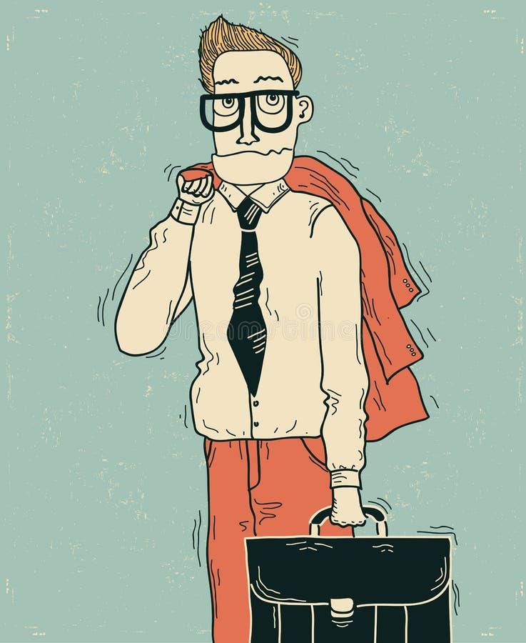 Бизнесмен в одеждах офиса. бесплатная иллюстрация