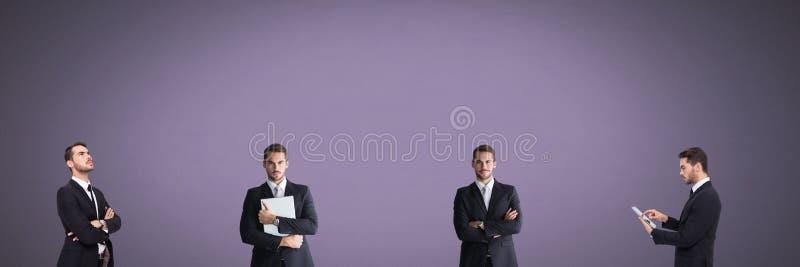 Бизнесмен в последовательности стоковое фото