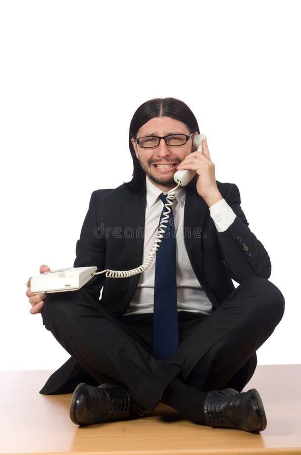 Бизнесмен в принципиальной схеме дела стоковые фото