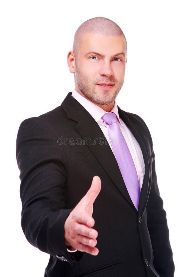 бизнесмен давая рукопожатие стоковая фотография rf
