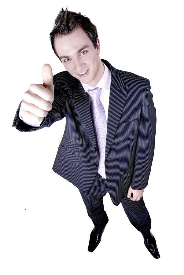бизнесмен дает большие пальцы руки вверх стоковые фотографии rf
