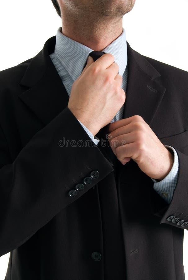 бизнесмен делая его связь стоковые изображения rf