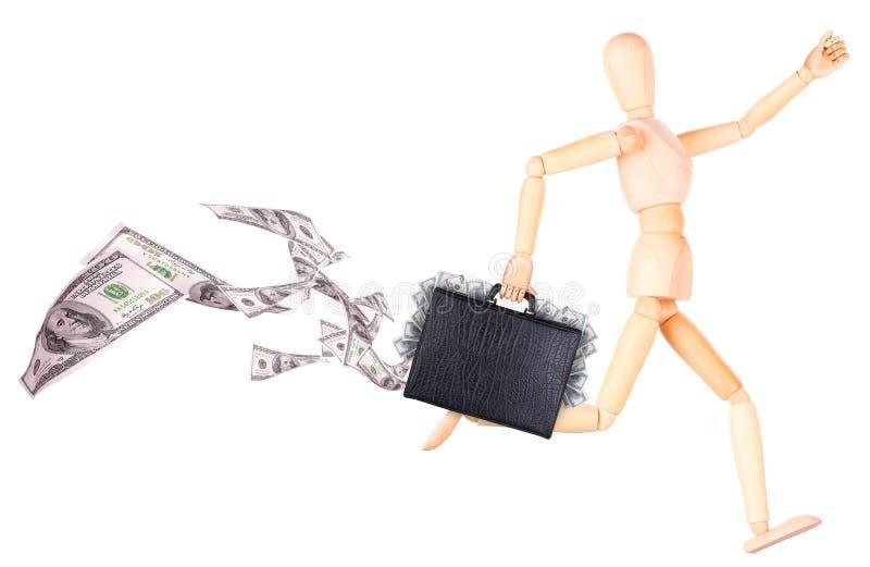Download Бизнесмен держа случай с деньгами Стоковое Изображение - изображение насчитывающей ем, движение: 40578107