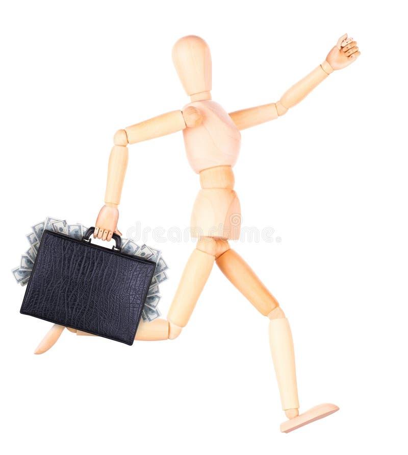 Download Бизнесмен держа случай с деньгами Стоковое Изображение - изображение насчитывающей рука, американская: 40578131