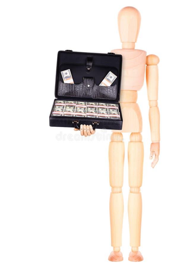 Download Бизнесмен держа случай с деньгами Стоковое Фото - изображение насчитывающей модель, вниманиях: 40578298