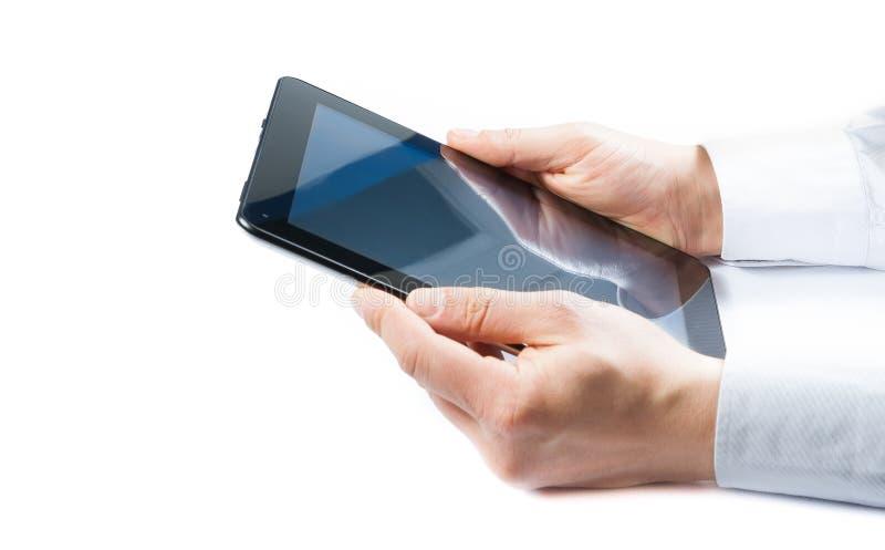 Download Бизнесмен держа цифровой ПК таблетки Стоковое Фото - изображение насчитывающей офис, электронно: 37931128