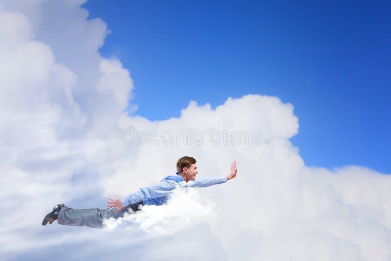 Download Бизнесмен летания стоковое фото. изображение насчитывающей полет - 41651524