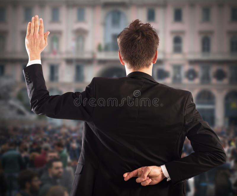 Бизнесмен лжеца стоковые фото