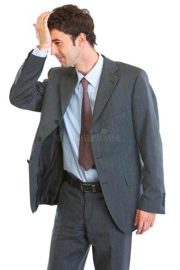 бизнесмен забыл что-то стоковое изображение rf