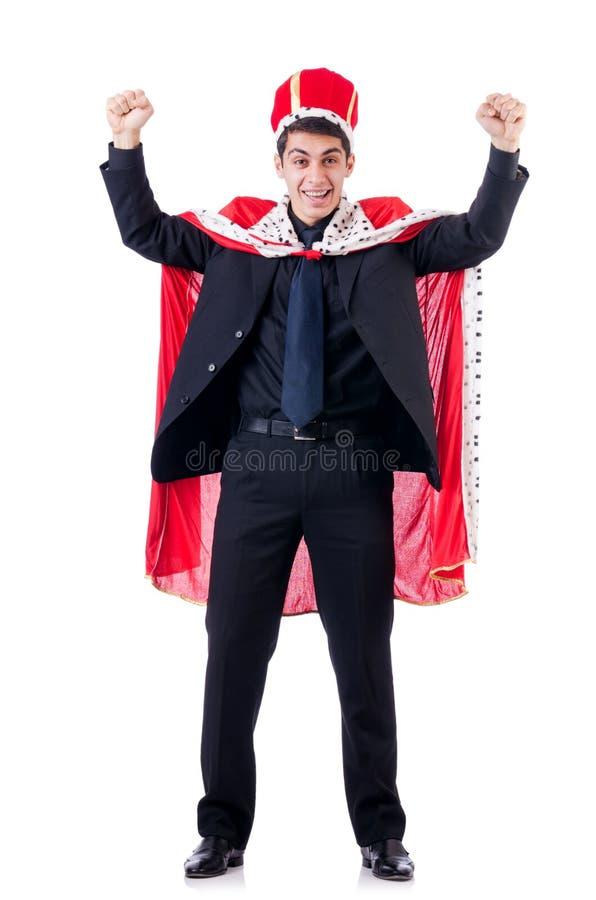 Бизнесмен играя короля стоковое изображение rf