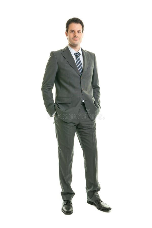 Бизнесмен изолированный на белой предпосылке стоковое фото