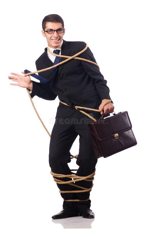Бизнесмен изолированный на белизне стоковое фото