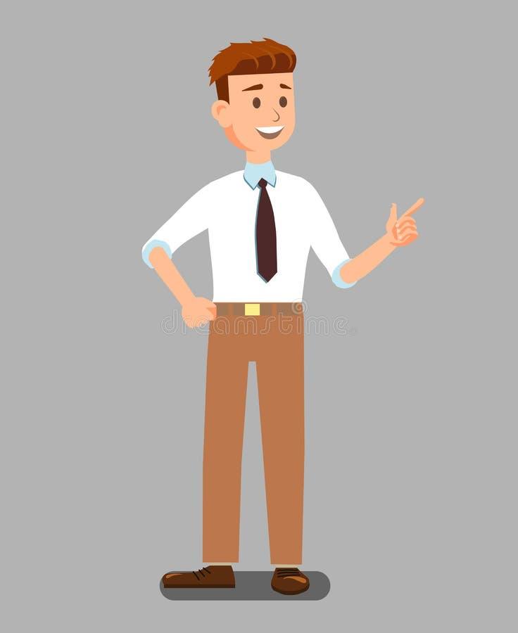 Бизнесмен или лектор в официальных одеждах иллюстрация штока