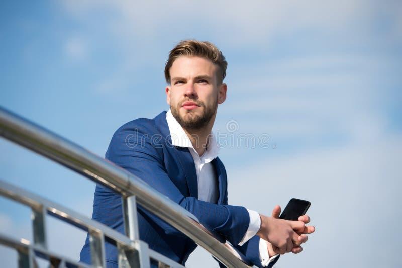 Бизнесмен или мода CEO (главный исполнительный директор) городская стоковое изображение