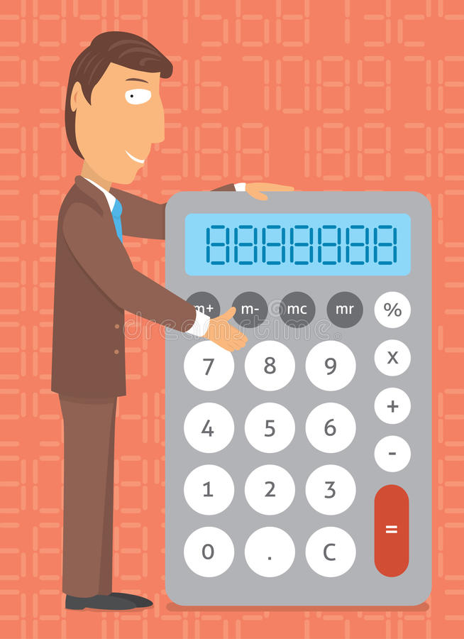 Чалькулятор дела/делать номера бесплатная иллюстрация