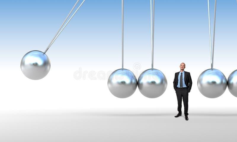 Бизнесмен и вашгерд бесплатная иллюстрация