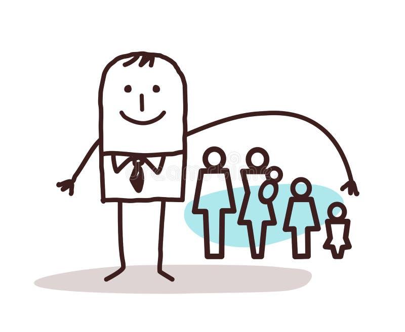 Бизнесмен и страхование жизни иллюстрация вектора
