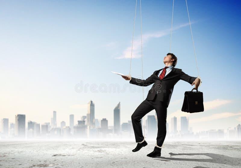 Бизнесмен марионетки стоковое изображение rf