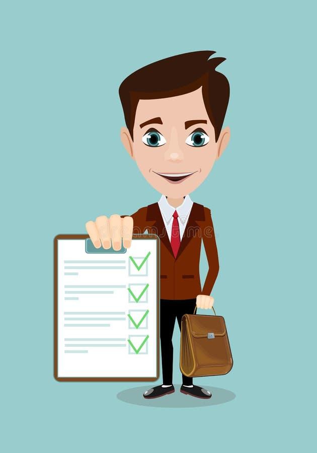 Бизнесмен отвечает на вопросы интервью бесплатная иллюстрация
