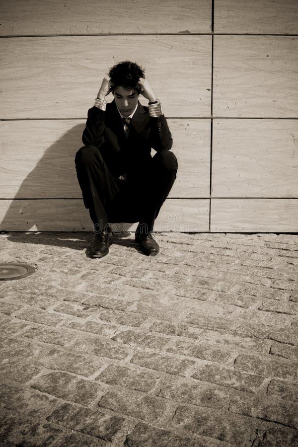 бизнесмен отжал стоковая фотография rf