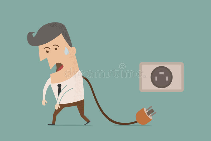 Бизнесмен отключает иллюстрация штока