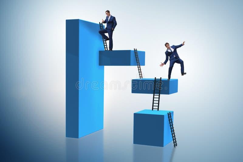 Бизнесмен падая от высокого блока в концепции отказа стоковое фото rf