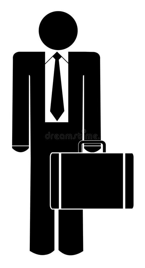 бизнесмен портфеля иллюстрация вектора