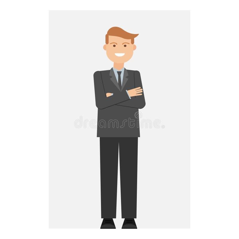 Бизнесмен, работник офиса, человек Вектор, иллюстрация, плоско бесплатная иллюстрация