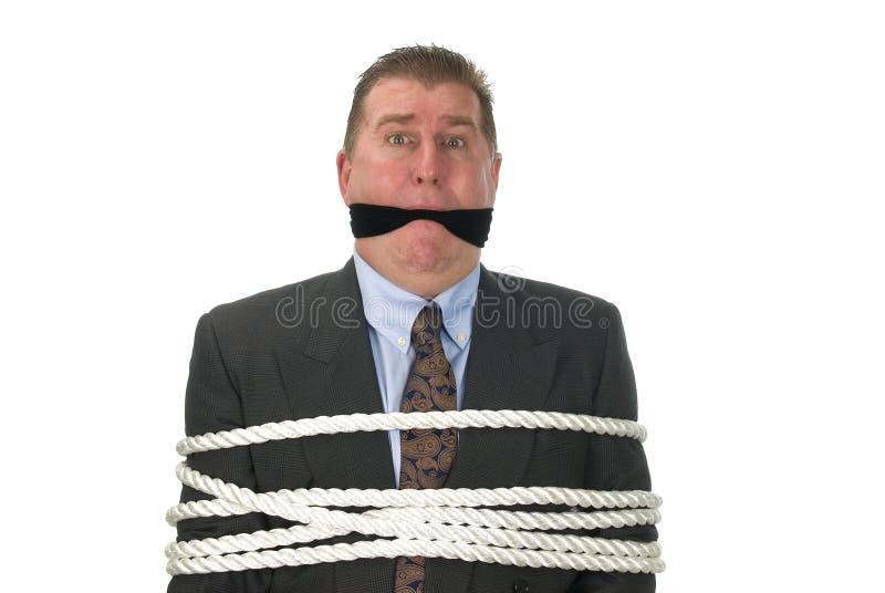 бизнесмен связанный вверх стоковые изображения