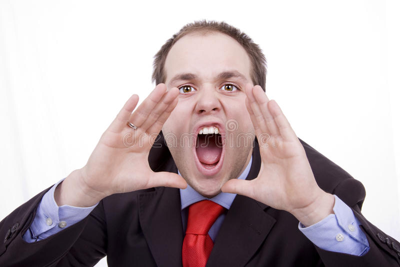Бизнесмен слабонервный стоковое изображение