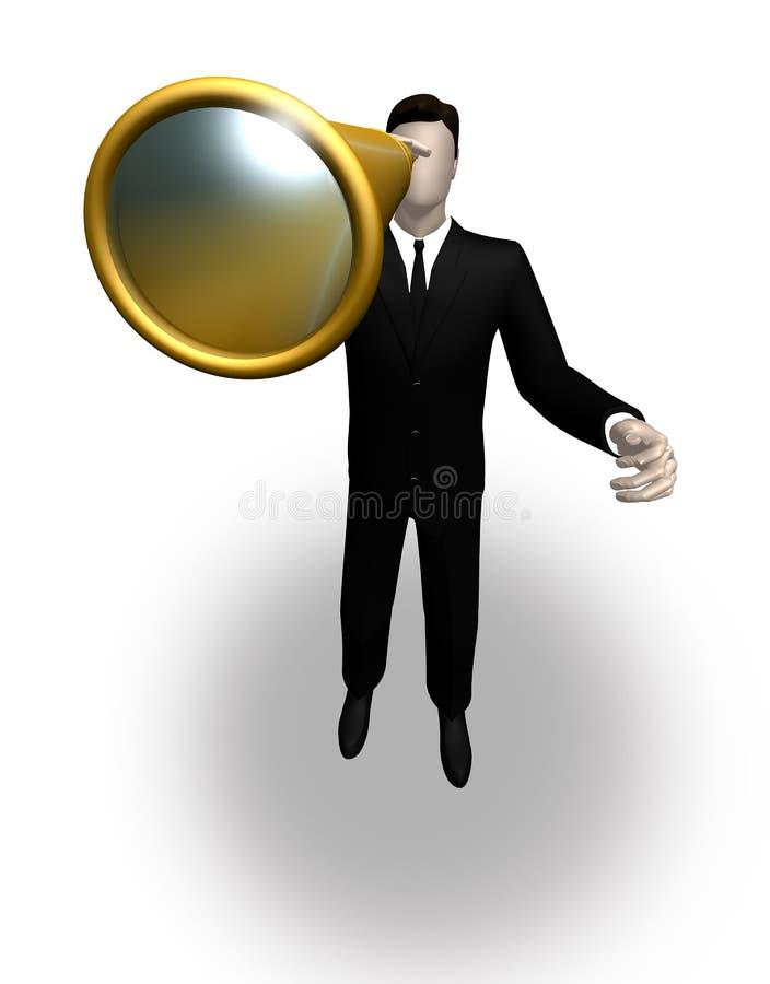бизнесмен смотря телескоп стоковое фото