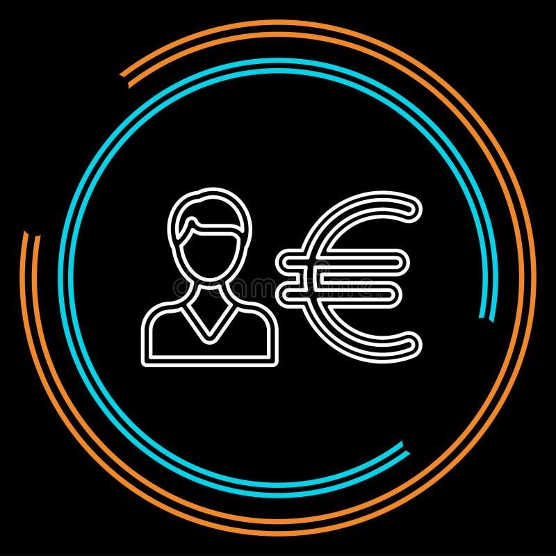 Бизнесмен со знаком евро иллюстрация вектора