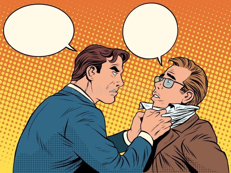 Бизнесмен ссоры боя людей конфликта иллюстрация вектора