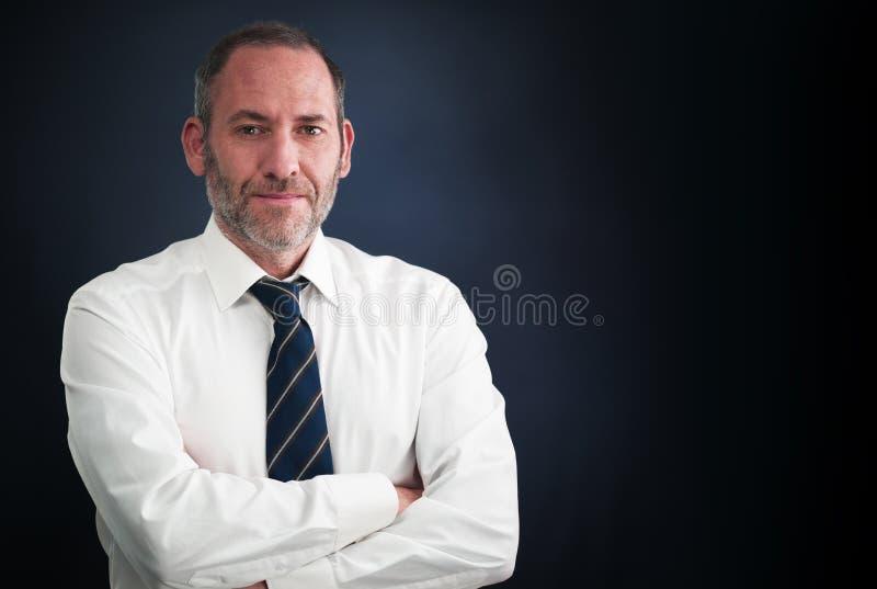 Бизнесмен старшего администратора стоковое фото