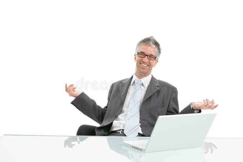 бизнесмен счастливый стоковые изображения rf