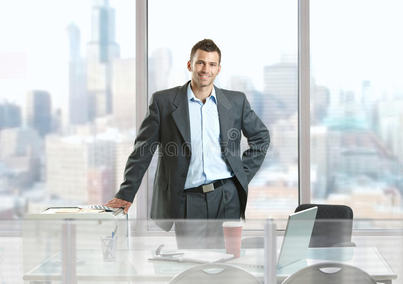 бизнесмен счастливый стоковые изображения