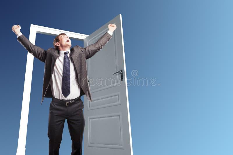 Бизнесмен счастья стоковое изображение