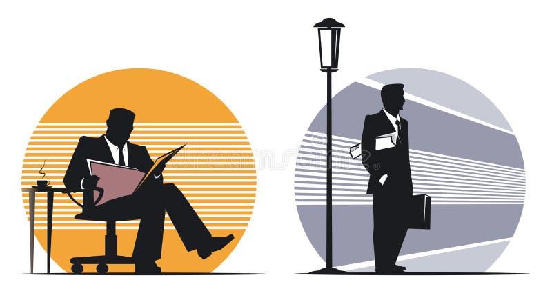 Бизнесмен с газетой стоковые изображения rf
