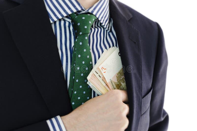 Бизнесмен с деньгами в руке стоковые изображения rf