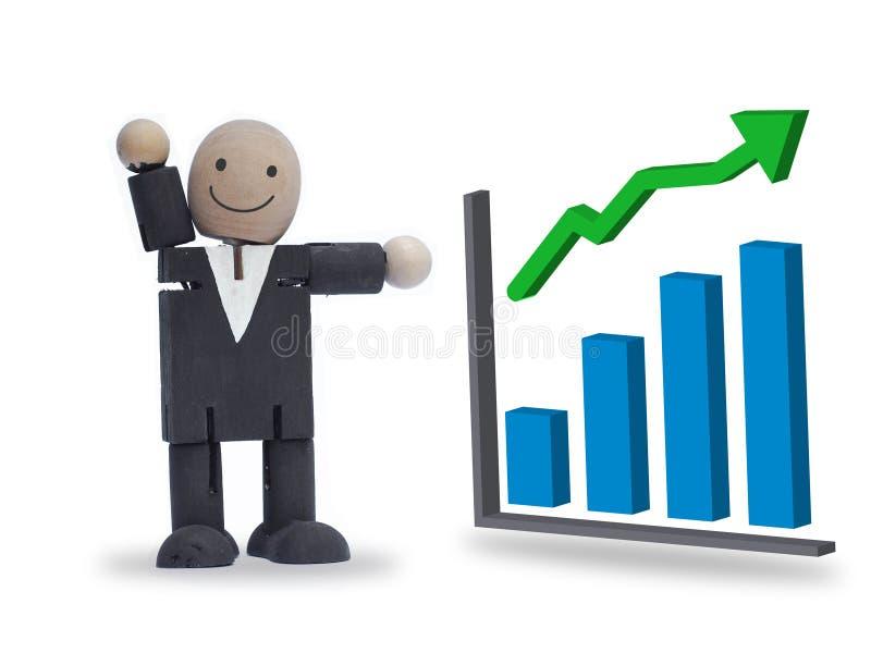 Бизнесмен с диаграммой маркетинга бесплатная иллюстрация