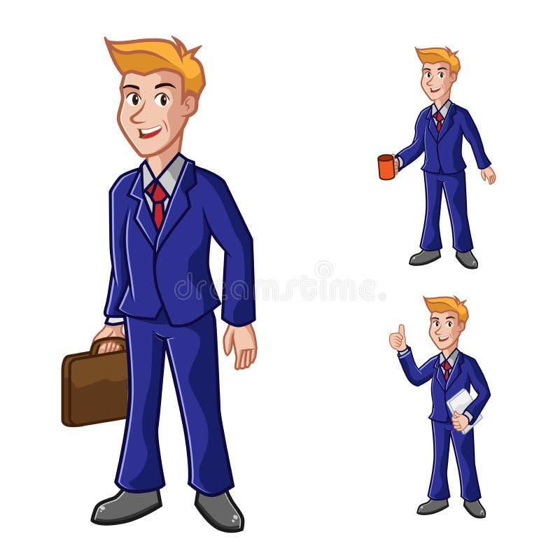 Бизнесмен с иллюстрацией вектора костюма иллюстрация штока