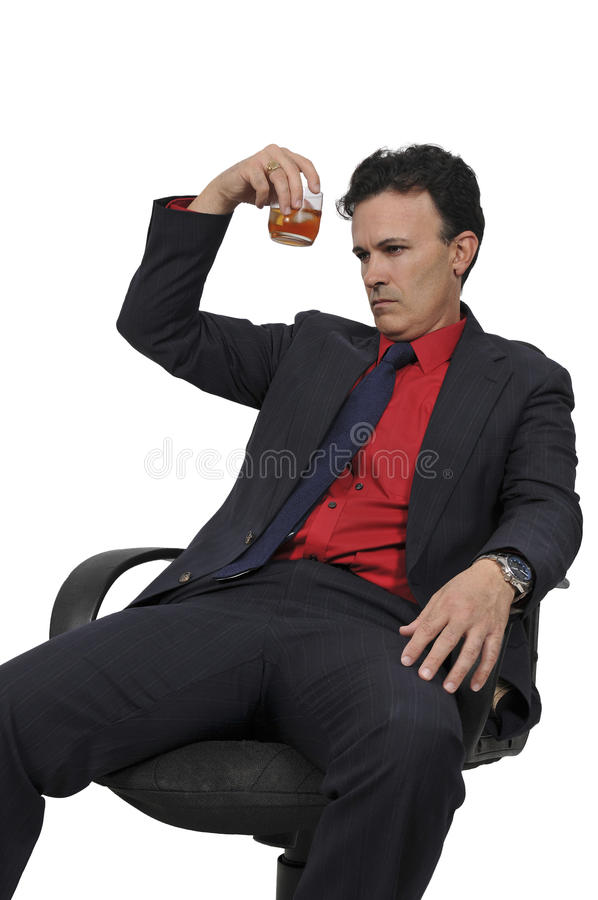 Бизнесмен с коктеилем стоковое изображение