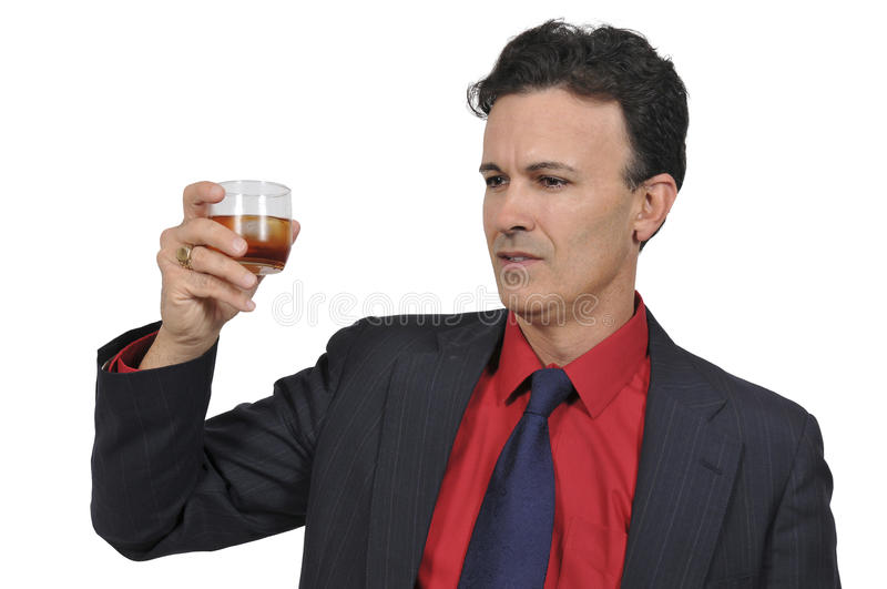 Бизнесмен с коктеилем стоковое изображение rf