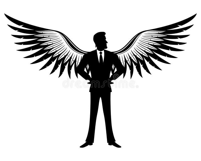 Бизнесмен с крылами бесплатная иллюстрация