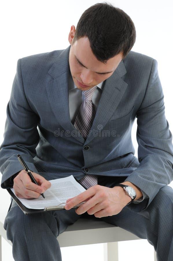 Бизнесмен с телефоном стоковые фото